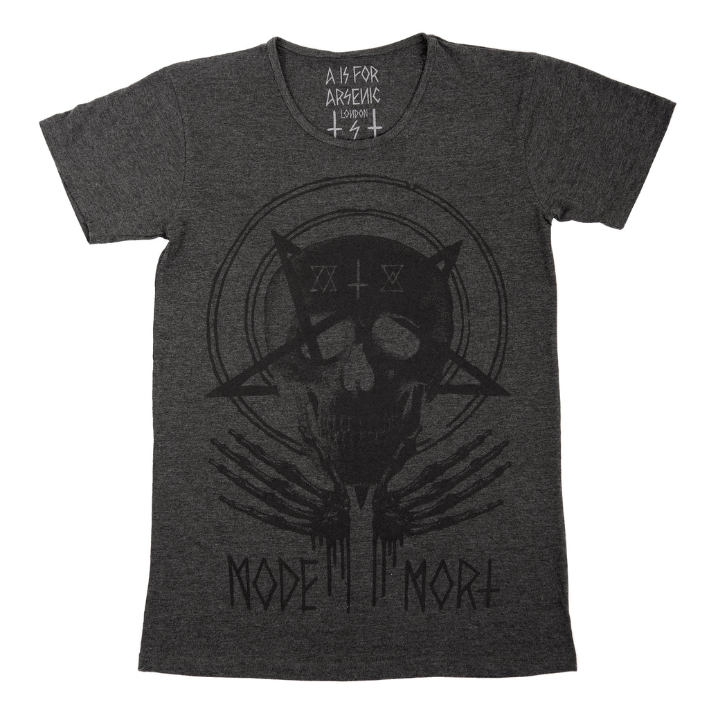 Mode x Mort Grey Skull T-shirt