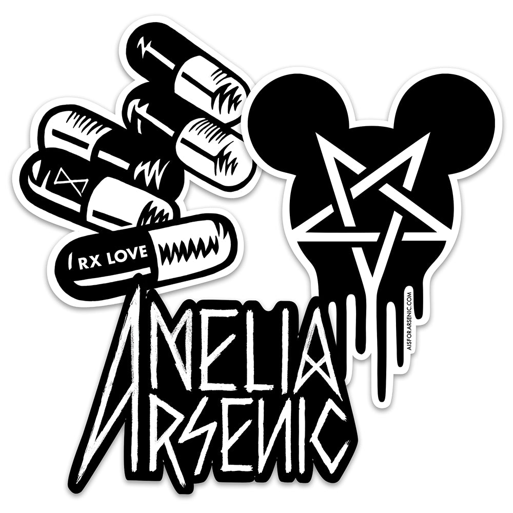 Amelia Arsenic Vinyl Sticker Pack #1