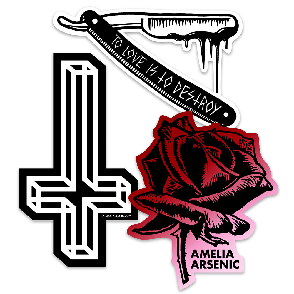Amelia Arsenic Vinyl Sticker Pack #2