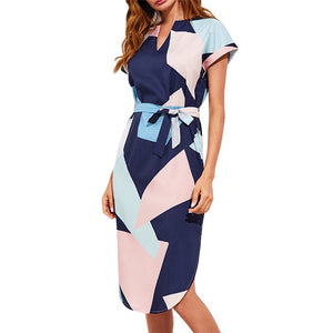 Fashion Geometric Print Dress