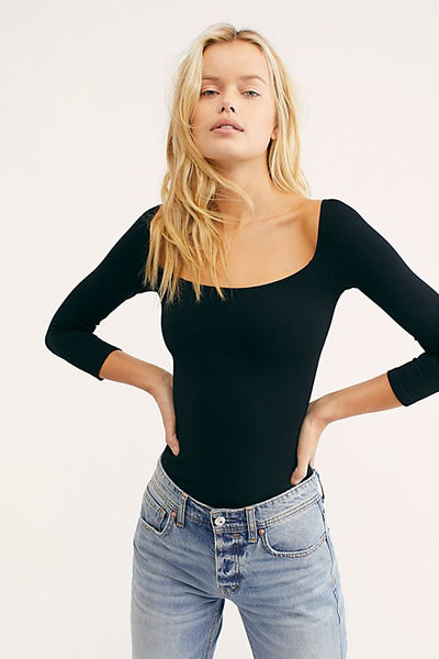 Square Neck Long Sleeve