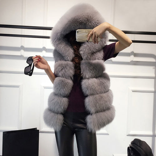 Monet Sleeveless Fur Coat