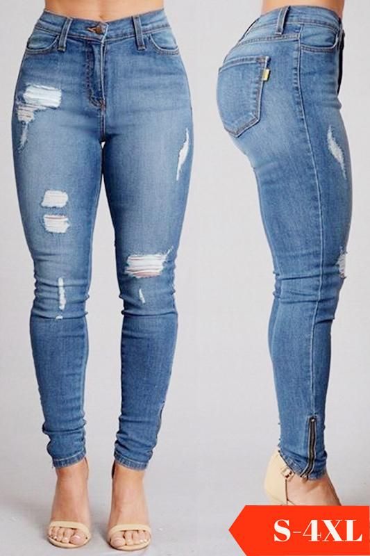 83f07125c9bb Iconhunt Mid Rise Ripped Skinny Jeans