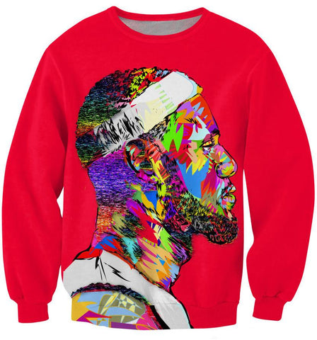 Lebron James Abstract Print Jumper