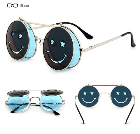 Smiling Face Folding Punk Sunglasses