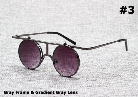 Flip Up Lense SteamPunk Style Sunglasses