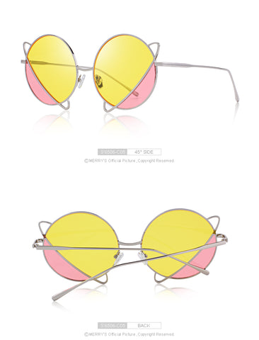 Cat Eye Round Framed Sunglasses