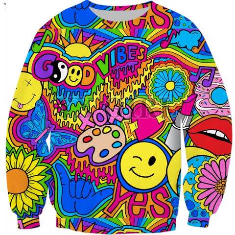 Good Vibes Hippie 3D Jumper