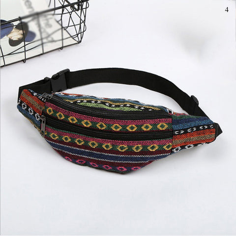 Ethnic Style Canvas Printed Bum Bags