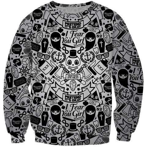 Graffiti Skull & Ghost Jumper