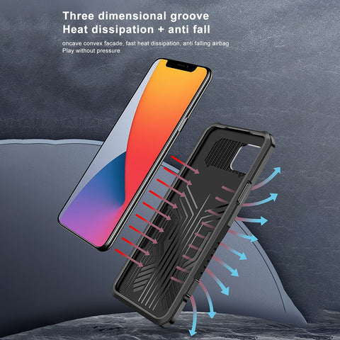iPhone 12 Mini Case - Shockproof Armor Rugged iPhone 12 Case