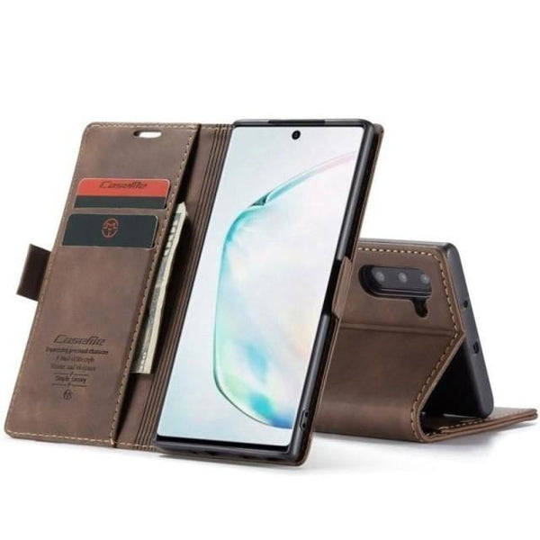 Note 10 5G Case - Vintage Leather Case for Note 10 - Belts, Buckles and Wallets