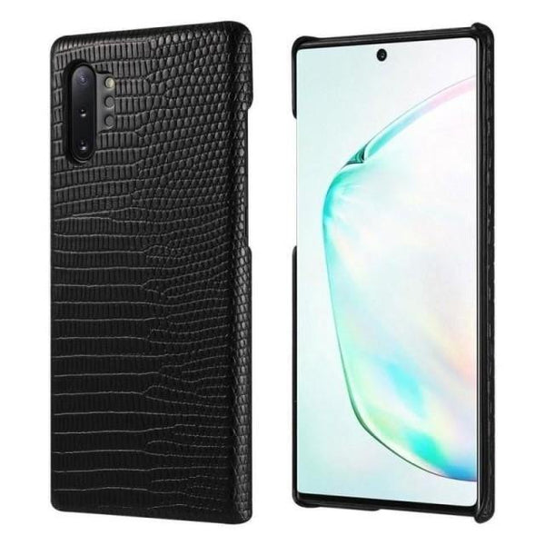 Note 10+ Case - Exotic Leather Galaxy Note 10 Plus Case - Belts, Buckles and Wallets