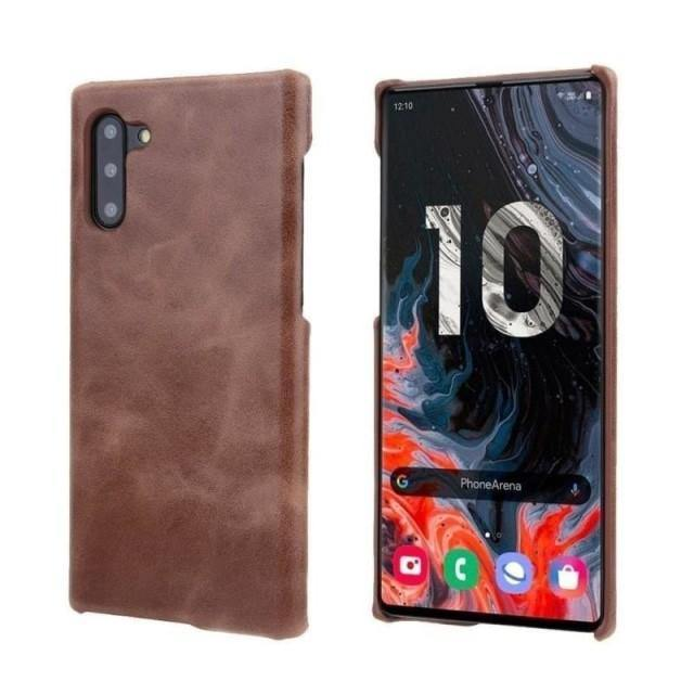 Leather Note 10+ Case - Smooth Rawhide Galaxy Note 10+ Case - Belts, Buckles and Wallets
