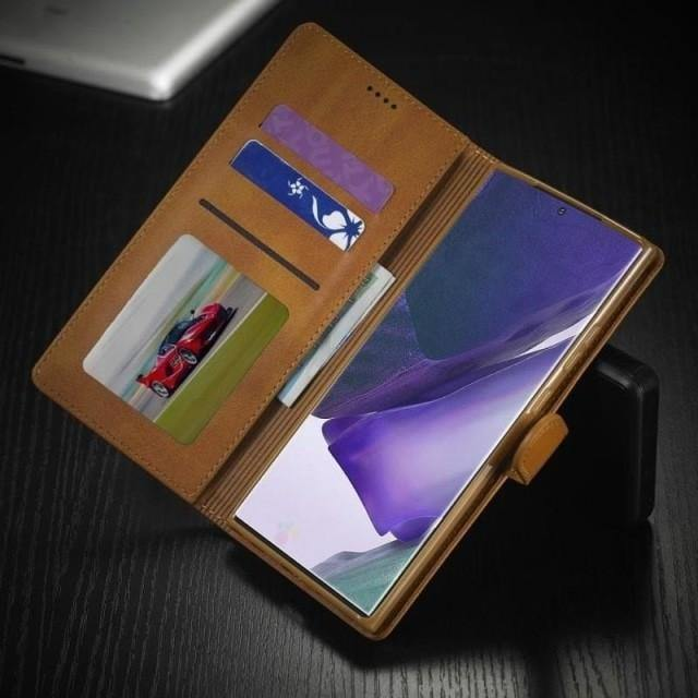 Note 20 Ultra Case - Luxury Leather Galaxy Note 20 Card Holder Case - Belts, Buckles and Wallets