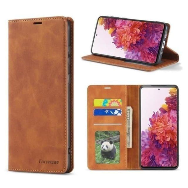 Galaxy S20 FE Case - Retro Magnetic Leather Case for Galaxy S20 FE 5G - Belts, Buckles and Wallets