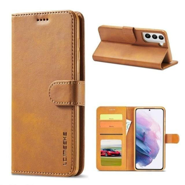 Galaxy S21+ Case - Luxury Leather Galaxy S21 Card Holder Case - Belts, Buckles and Wallets
