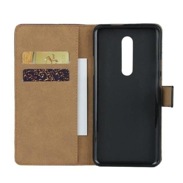 OnePlus 8 Pro Case - Classic Black Leather OnePlus 8 Case - Belts, Buckles and Wallets