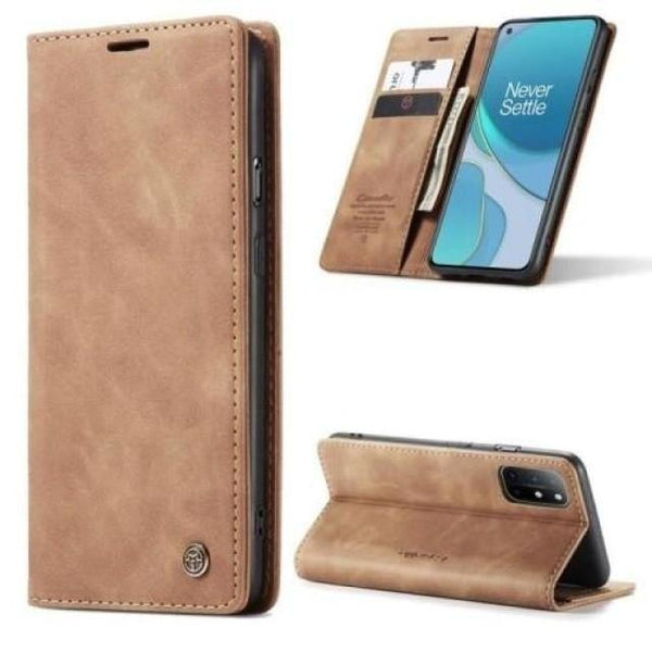OnePlus 8T Case - Vintage Leather Case for Oneplus 8T - Belts, Buckles and Wallets