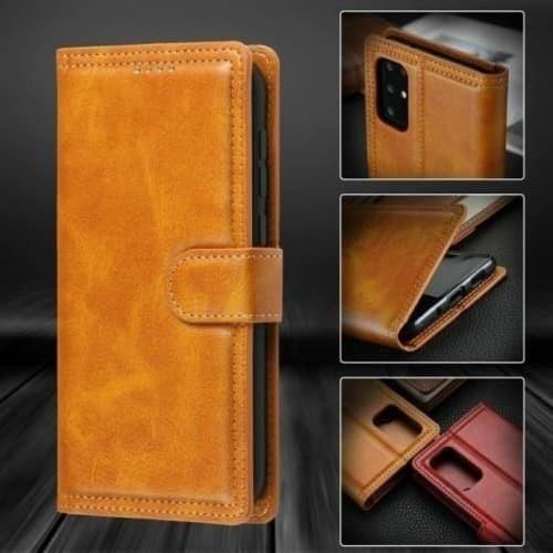Galaxy S20 Case - Crazy Horse Flip Leather Case for Galaxy S20 - Belts, Buckles and Wallets