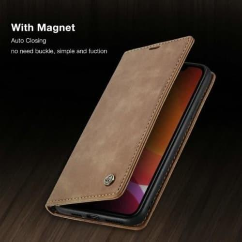 iPhone 11 Case - Vintage Leather Magnetic iPhone 11 Case - Belts, Buckles and Wallets