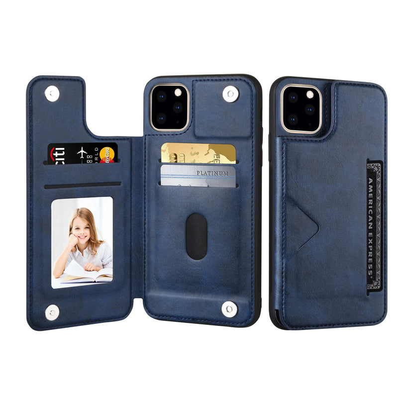 iPhone 12 Case - Flip Leather Wallet iPhone Case - Belts, Buckles and Wallets