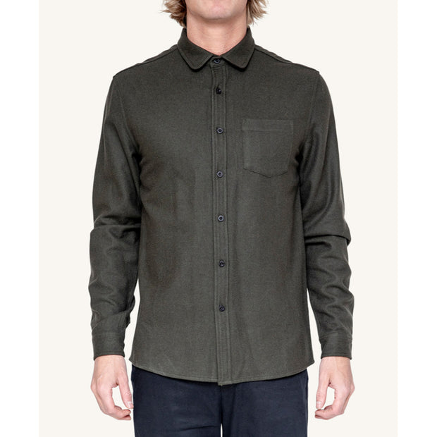 Pleasant - army wool shirt