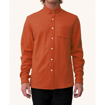 Pleasant - Burnt orange wool shirt