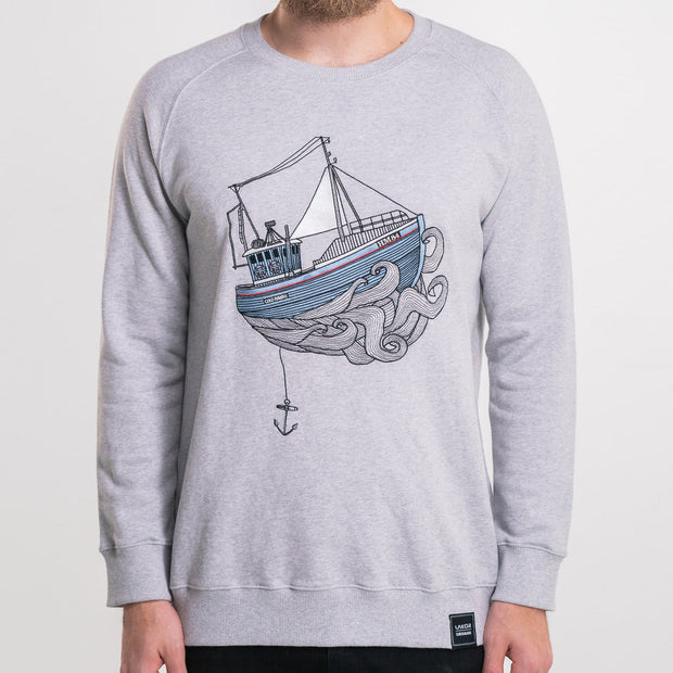 Lakor - Kutter Crewneck (Light grey melange)