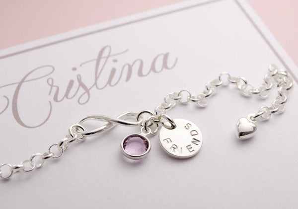 FRIENDS Armband Infinity 925 Silber