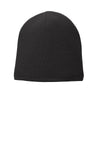 Black  Fleece-Lined Beanie Cap