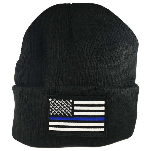 Thin Blue Line Flag Beanie Hat