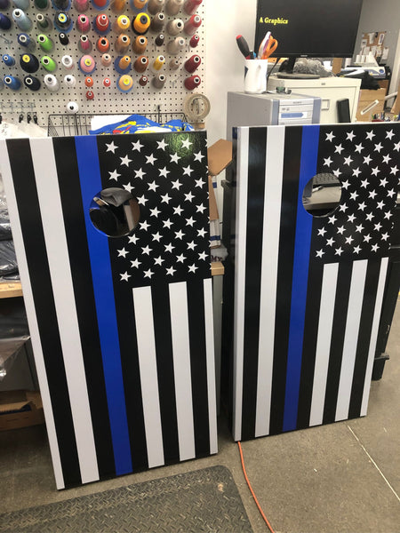 Thin Blue Line Cornhole Boards