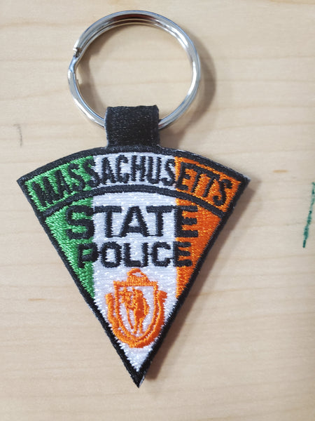 Irish Massachusetts State Police Patch Keychain