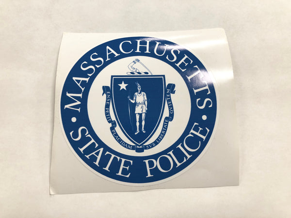Massachusetts State Police Seal Decal