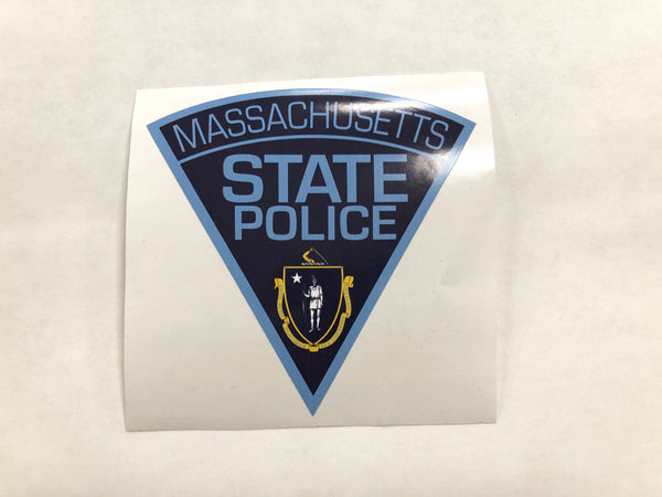 Massachusetts State Police Patch Decal