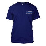 Never Forget THIN BLUE LINE Navy T-Shirt FREE SHIPPING