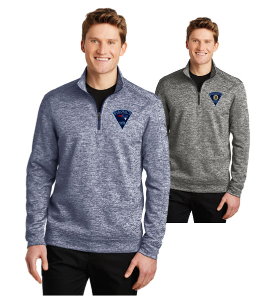 Massachusetts State Police Sport-Tek Heather Fleece 1/4-Zip