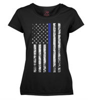 Thin Blue Line Flag Women's T-Shirt