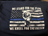MSP We Stand Thin Blue Line Navy T-Shirt