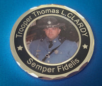 MSP Trooper Thomas L. Clardy Memorial Coin