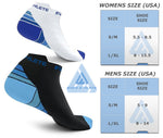 Ombré Low Cut Compression Socks   Black/Blue/White