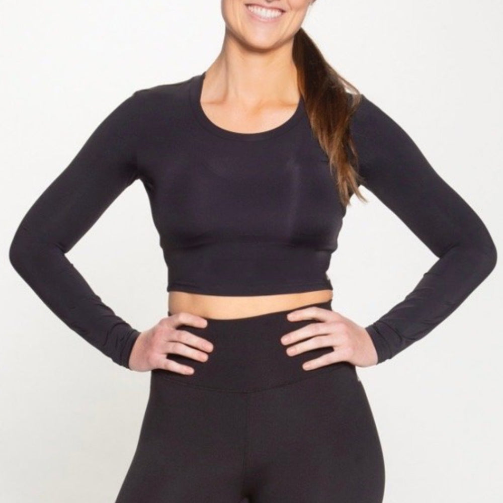 Tarrytown Long Sleeve Crop - Black