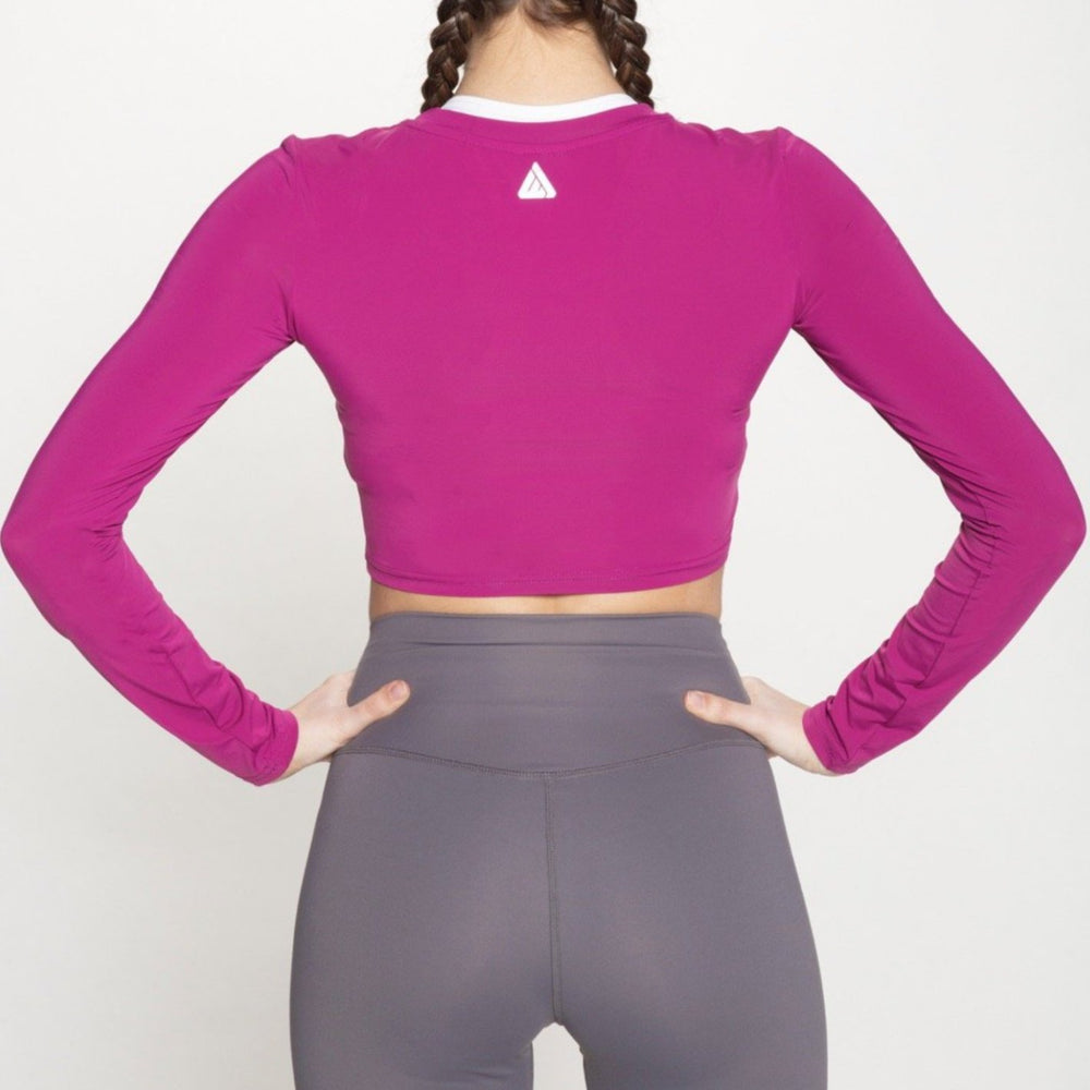 Tarrytown Long Sleeve Crop - Magenta