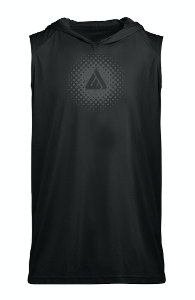 Domain Sleeveless Hoodie Tee - Black