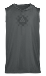 Domain Sleeveless Hoodie Tee - Grey