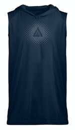 Domain Sleeveless Hoodie Tee - Navy