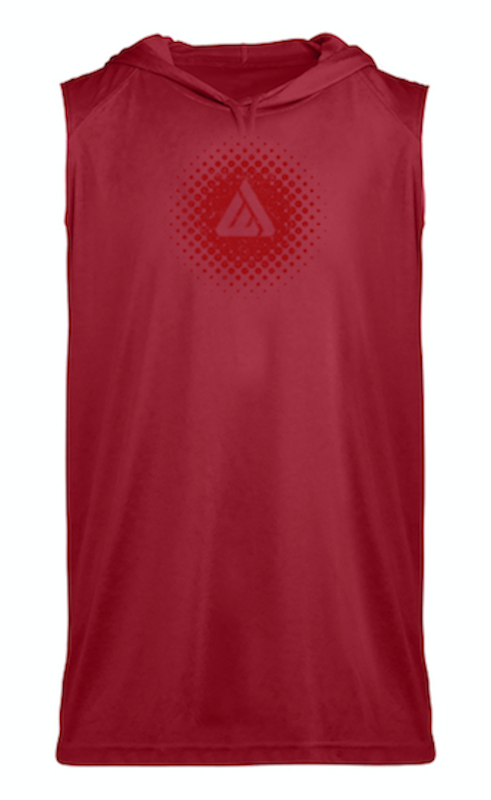 Domain Sleeveless Hoodie Tee - Red