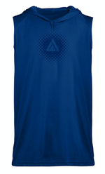 Domain Sleeveless Hoodie Tee - Royal