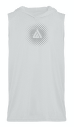 Domain Sleeveless Hoodie Tee - White